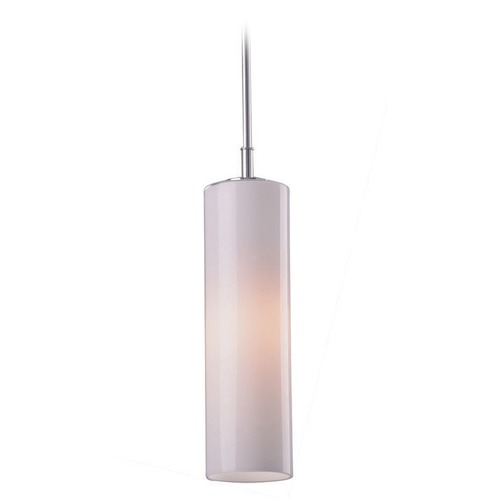 ET2 Lighting Rondelle Polished Chrome Mini-Pendant Light with Cylindrical Shade E20841-01