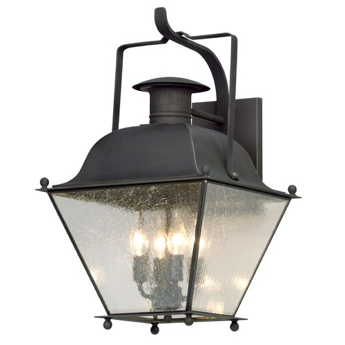 Troy Lighting Troy Lighting Wellesley Charred Iron Outdoor Wall Light B5073CI