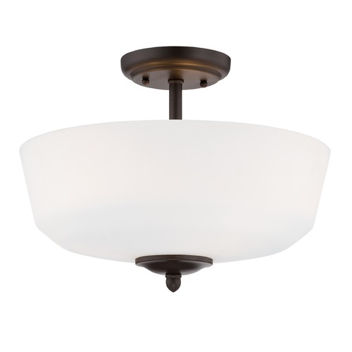 Designers Fountain Lighting Designers Fountain Darcy Oil Rubbed Bronze Semi-Flushmount Light 15006-SF-34
