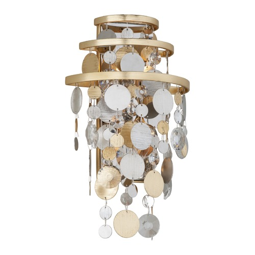Corbett Lighting Corbett Lighting Ambrosia Gold and Silver Leaf Sconce 215-12