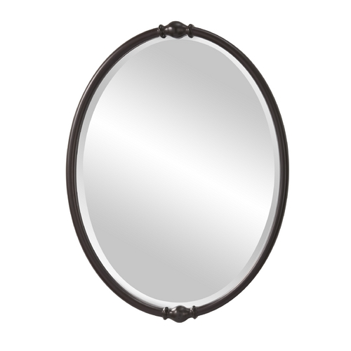 Feiss Lighting Jackie Oval 24-Inch Mirror MR1119ORB
