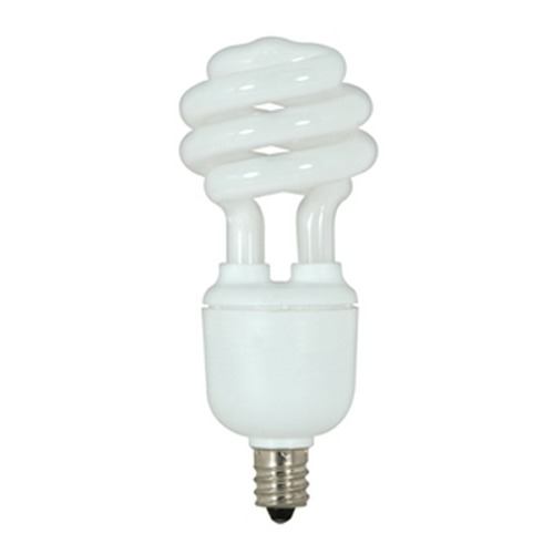 Satco Lighting 9-Watt Cool White Candelabra Base Compact Fluorescent Light Bulb S7362