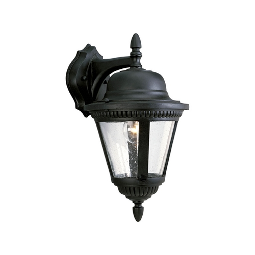Progress Lighting Seeded Glass Outdoor Wall Light Black Progress Lighting P5863-31