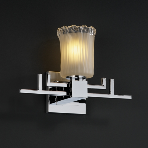 Justice Design Group Justice Design Group Veneto Luce Collection Sconce GLA-8701-16-WTFR-CROM