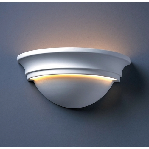 Justice Design Group Sconce Wall Light in Bisque Finish CER-1515-BIS