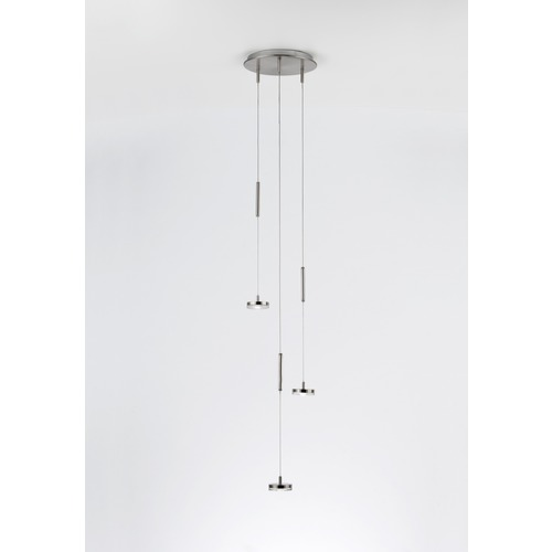 Holtkoetter Lighting Holtkoetter Lighting Lichtstar System Brushed Brass LED Multi-Light Pendant C8310 R9731 BB