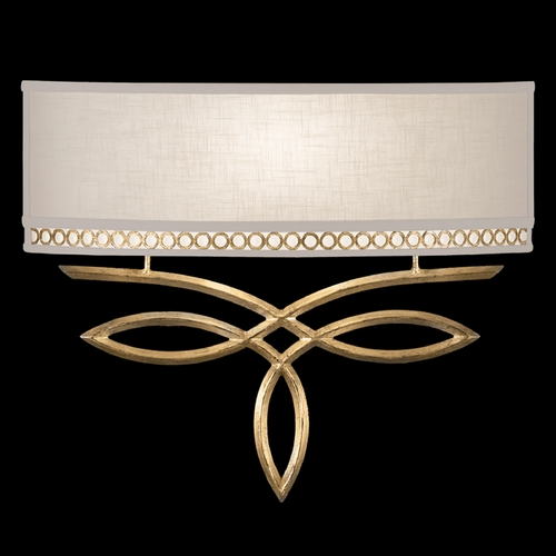 Fine Art Lamps Fine Art Lamps Allegretto Gold Burnished Gold Leaf with Subtle Brown Highlights Sconce 785650-2ST