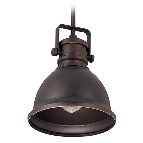 Capital Lighting Capital Lighting Burnished Bronze Mini-Pendant Light with Bowl / Dome Shade 4431BB