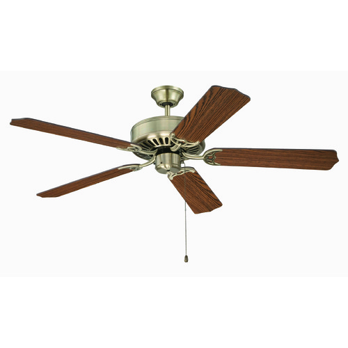 Craftmade Lighting Craftmade Pro Builder Antique Brass Ceiling Fan Without Light K11131
