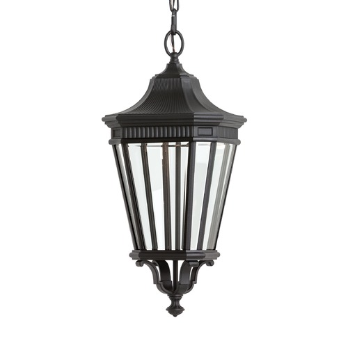 Feiss Lighting Feiss Lighting Cotswold Lane Black LED Outdoor Hanging Light OL5411BK-LED