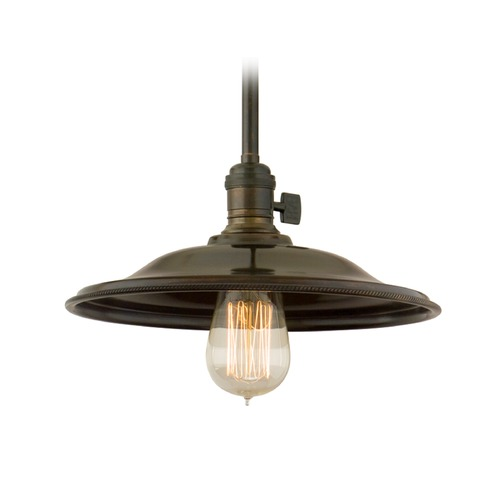 Hudson Valley Lighting Hudson Valley Lighting Heirloom Old Bronze Pendant Light with Bowl / Dome Shade 9001-OB-MS2