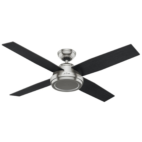 Hunter Fan Company Hunter Fan Company Dempsey Brushed Nickel Ceiling Fan Without Light 59249