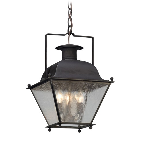 Troy Lighting Troy Lighting Wellesley Charred Iron Outdoor Hanging Light F5077CI