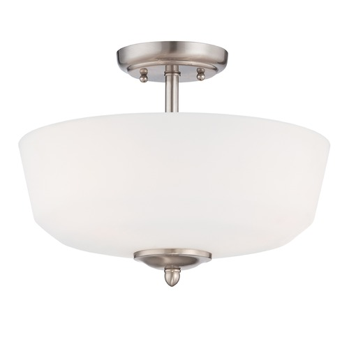 Designers Fountain Lighting Designers Fountain Darcy Brushed Nickel Semi-Flushmount Light 15006-SF-35