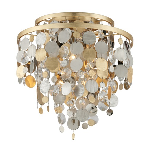Corbett Lighting Corbett Lighting Ambrosia Gold and Silver Leaf Flushmount Light 215-33