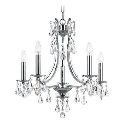 Crystorama Lighting Crystorama Lighting Cedar Polished Chrome Crystal Chandelier 5935-CH-CL-MWP