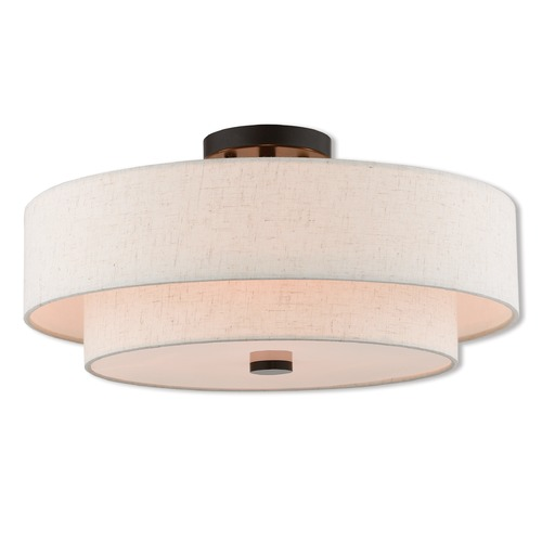 Livex Lighting Livex Lighting Claremont English Bronze Semi-Flushmount Light 51085-92