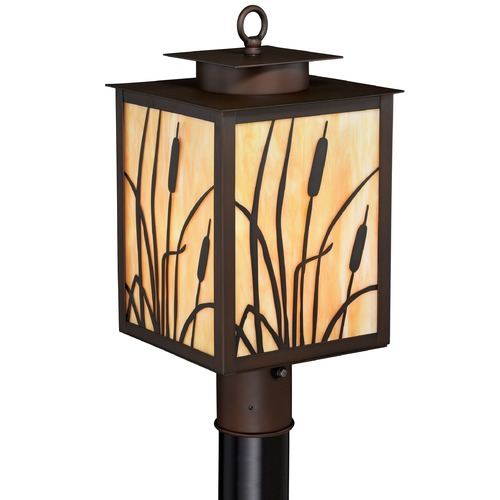 Vaxcel Lighting Bulrush Burnished Bronze Post Light by Vaxcel Lighting T0229