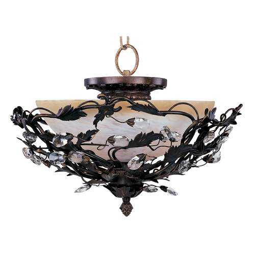 Maxim Lighting Maxim Lighting Elegante Oil Rubbed Bronze Semi-Flushmount Light 2859OI