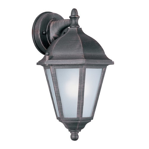 Maxim Lighting Outdoor Wall Light with White Glass in Rust Patina Finish 85100RP