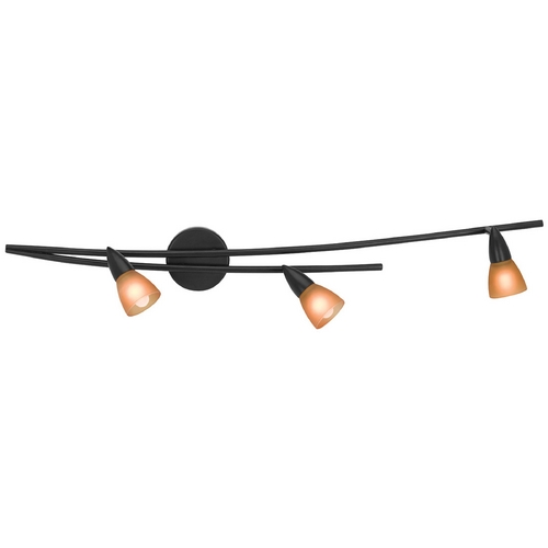 Access Lighting Modern Sconce Wall Light with Amber Glass in Oil Rubbed Bronze Finish 52149-ORB/AMB