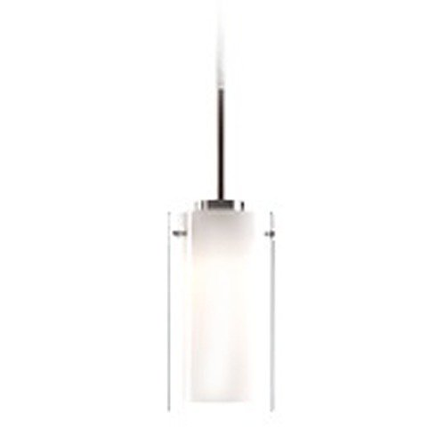 Kuzco Lighting Kuzco Lighting Verona Brushed Nickel LED Mini-Pendant Light with Cylindrical Shade PD41304