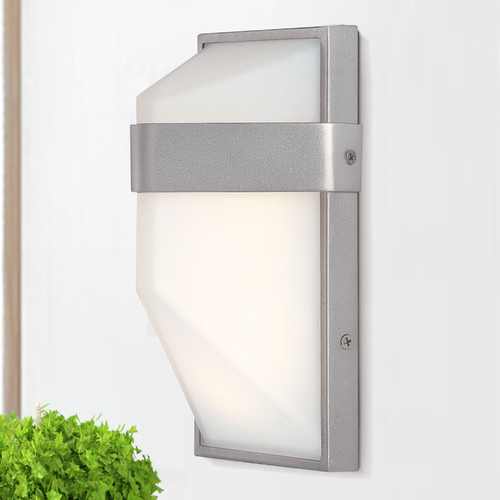 George Kovacs Lighting George Kovacs Wedge Silver Dust LED Outdoor Wall Light P1236-566-L