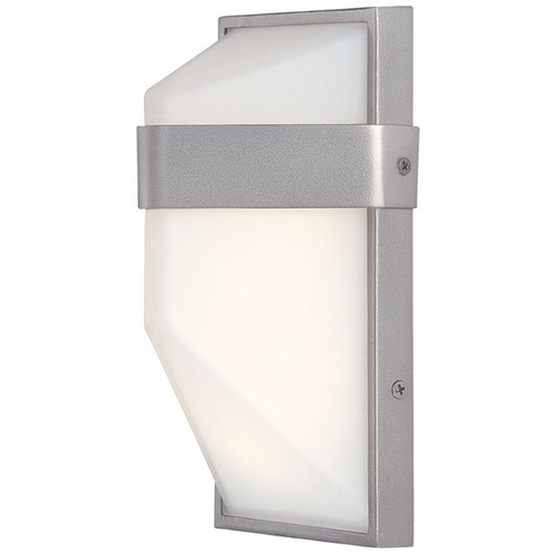 George Kovacs Lighting Minka Wedge Silver Dust LED Outdoor Wall Light P1236-566-L