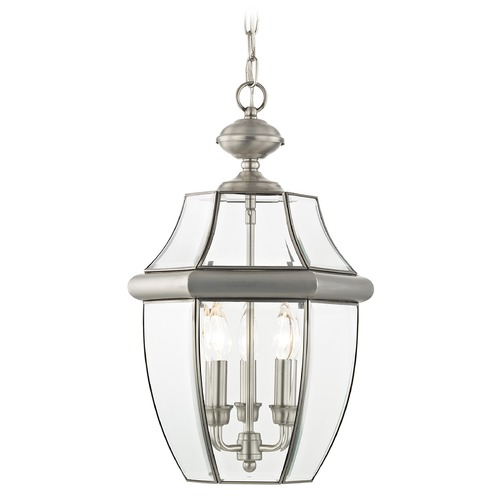 Livex Lighting Livex Lighting Monterey Brushed Nickel Outdoor Hanging Light 2355-91