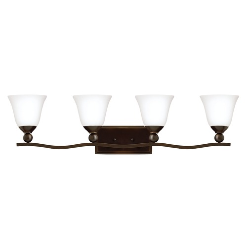 Hinkley Lighting Hinkley Lighting Bolla Olde Bronze Bathroom Light 5894OB-OPAL