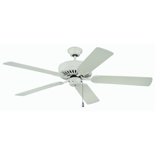Craftmade Lighting Craftmade Pro Builder Antique White Ceiling Fan Without Light K11133