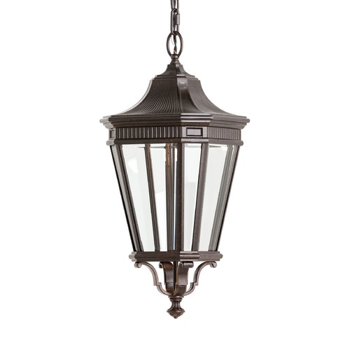 Feiss Lighting Feiss Lighting Cotswold Lane Grecian Bronze LED Outdoor Hanging Light OL5411GBZ-LED