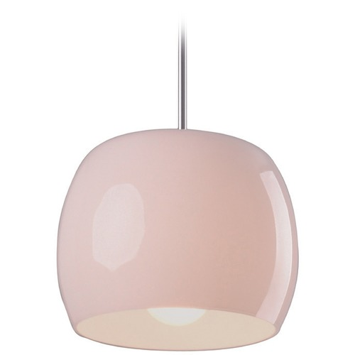 ET2 Lighting Caps Polished Chrome Mini-Pendant Light with Drum Shade E20851-01
