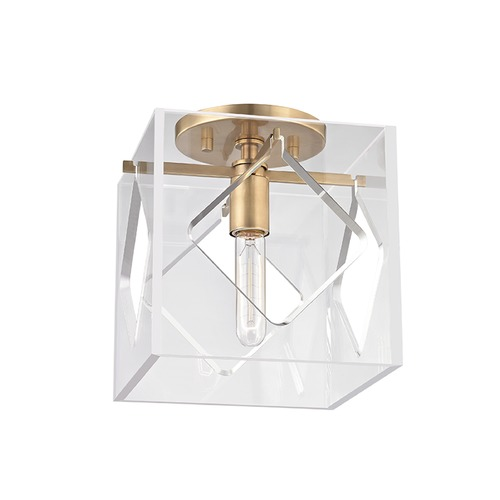 Hudson Valley Lighting Hudson Valley Lighting Travis Aged Brass Flushmount Light 5909F-AGB