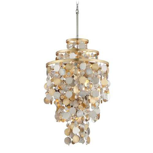 Corbett Lighting Corbett Lighting Ambrosia Gold and Silver Leaf Pendant Light 215-45