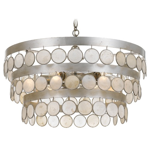 Crystorama Lighting Crystorama Lighting Coco Antique Silver Pendant Light 6006-SA