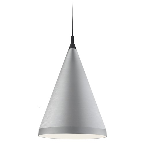 Kuzco Lighting Kuzco Lighting Dorothy Brushed Nickel / Black Pendant Light with Conical Shade 492722-BN/BK