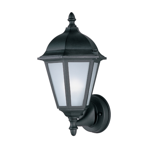 Maxim Lighting Outdoor Wall Light with White Glass in Black Finish 85102BK