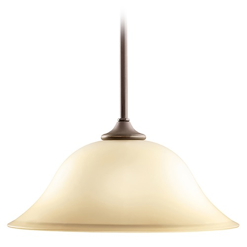 Kichler Lighting Kichler Pendant Light with Beige / Cream Glass in Olde Bronze Finish 3587OZ