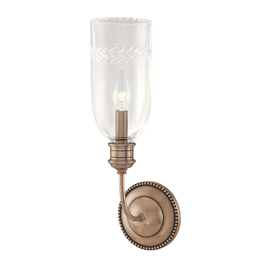 Hudson Valley Lighting Sconce Wall Light with Clear Glass in Old Nickel Finish 291-ON