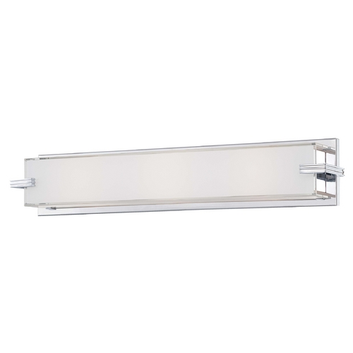 George Kovacs Lighting Cubism, Ada Sconces Chrome Bathroom Light - Vertical or Horizontal Mounting P5216-077