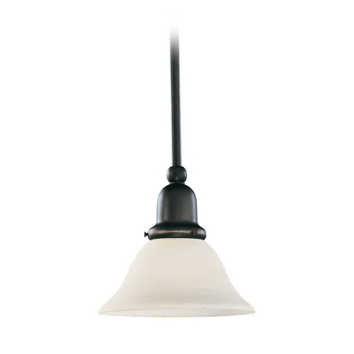 Sea Gull Lighting Mini-Pendant Light with White Glass 69459BLE-782