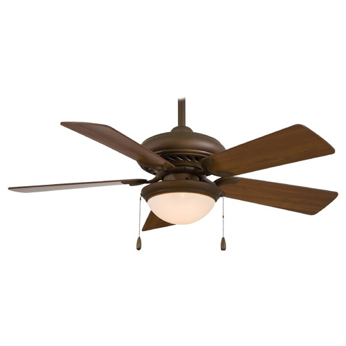 Minka Aire 44-Inch Supra Ceiling Fan with Five Blades and Light Kit F563-SP-ORB