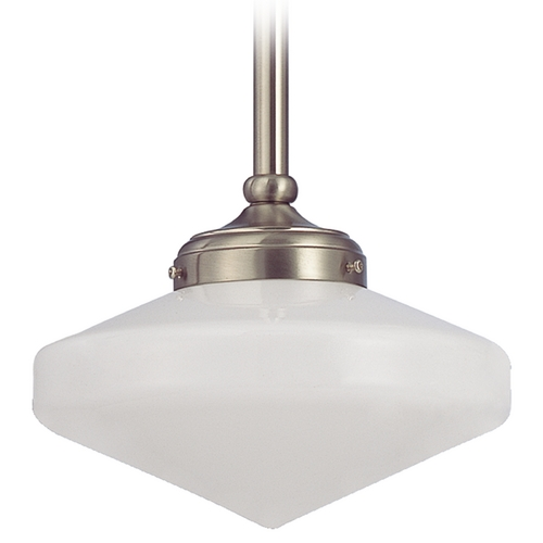 Design Classics Lighting 10-Inch Schoolhouse Mini-Pendant Light FA4-09 / GE10