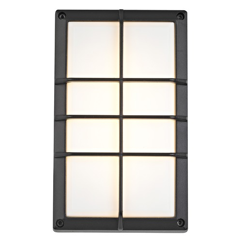 Design Classics Lighting Black LED Outdoor Wall Light 5048 BK 3000K/80CRI