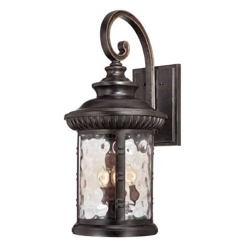 Quoizel Lighting Outdoor Wall Light with Clear Glass in Imperial Bronze Finish CHI8413IB