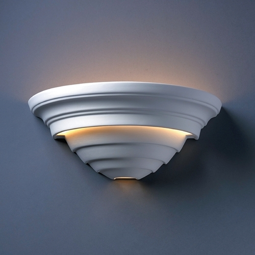 Justice Design Group Sconce Wall Light in Bisque Finish CER-1555-BIS