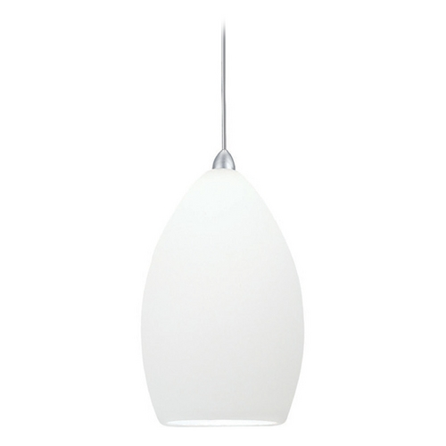 WAC Lighting Wac Lighting Contemporary Collection Chrome Mini-Pendant with Oblong Shade MP-613-WT/CH