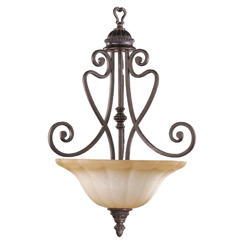 Quorum Lighting Quorum Lighting Summerset Toasted Sienna Pendant Light 8326-3-44