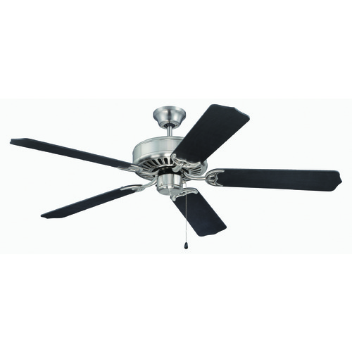 Craftmade Lighting Craftmade Pro Builder Brushed Polished Nickel Ceiling Fan Without Light K11135